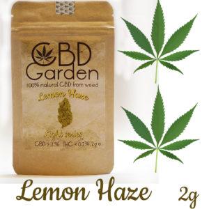 CBD Lemon Haze 9.2% CBD 2g SUSZ KONOPNY CANNABIS SATIVA